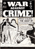 Original Comic Art:Covers, Johnny Craig War Against Crime #11 Cover Original Art (EC, 1950)....