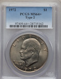 Eisenhower Dollars, 1972 $1 Type Two MS64+ PCGS. PCGS Population (510/69). Numismedia Wsl. Price for problem free NGC/PCGS ...