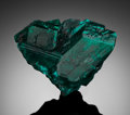 Minerals:Miniature, DIOPTASE. Renéville Mine, Renéville, Kindanba District, Pool Department, Republic of Congo . . ...