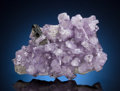 Minerals:Miniature, APATITE with ELBAITE. Golconda Pegmatite, Golconda District,Governador Valadares, Doce Valley, Minas Gerais, Brazil. ...