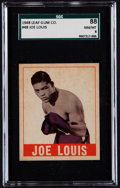 Boxing Cards:General, 1948 Leaf Joe Louis #48 SGC 88 NM/MT 8 - Pop Two, One Higher....