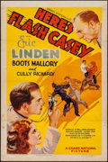 "Movie Posters:Action, Here's Flash Casey (Grand National, 1938). One Sheet (27"" X 41"").Action.. ..."