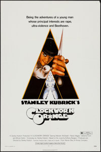 """A Clockwork Orange (Warner Brothers, 1971). One Sheet (27"""" X 41"""") R-Rated Style. Science Fiction"""
