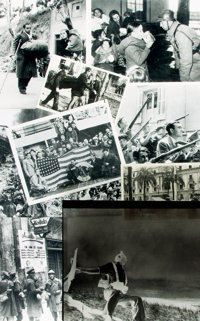 [Spanish Civil War]. Small Archive of Material Relating to the Spanish Civil War. May include photographic reproducti