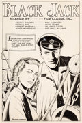 Original Comic Art:Splash Pages, Fred Guardineer Movie Love #4 Splash Page 1 Original Art(Famous Funnies, 1950)....
