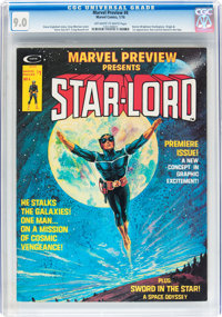 Marvel Preview #4 Star-Lord (Marvel, 1976) CGC VF/NM 9.0 Off-white to white pages
