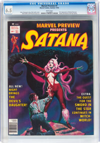 Marvel Preview #7 Satana (Marvel, 1976) CGC FN+ 6.5 White pages