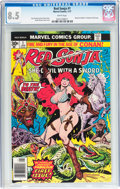 Bronze Age (1970-1979):Miscellaneous, Red Sonja #1 (Marvel, 1977) CGC VF+ 8.5 White pages....