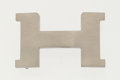 "Luxury Accessories:Accessories, Hermes Brushed Palladium H Buckle. Excellent Condition.1.5"" Width x 1"" Height. ..."