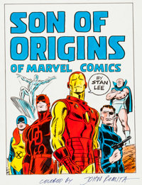 John Romita Sr. Son of Origins of Marvel Comics Hand-Colored Cover Proof Production Materials (Simon & Schuster, 1...