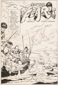 Original Comic Art:Splash Pages, Alex Niño Adventure Comics #425 Captain Fear Splash PageOriginal Art (DC, 1972)....