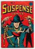 Golden Age (1938-1955):Miscellaneous, Suspense Comics #7 (Continental Magazines, 1944) Condition: GD/VG....