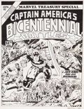 Original Comic Art:Covers, Herb Trimpe Marvel Treasury Special Featuring Captain America'sBicentennial Battles Cover Recreation Original Art...