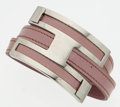 "Luxury Accessories:Accessories, Hermes Lilas Swift Leather Pousse Pousse Bracelet with PalladiumHardware. Good to Very Good Condition. 1.5"" Width x6..."
