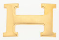 "Luxury Accessories:Accessories, Hermes Gold H Belt Buckle. Good to Very Good Condition.2.5"" Width x 1.5"" Height. ..."