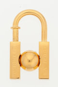 "Luxury Accessories:Accessories, Hermes Gold 2001 ""L'Homme Peut Embellir la Terre"" Cadena Lock Charm. Excellent Condition. 1"" Width x 1.5"" Height. ..."