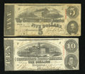 Confederate Notes:1863 Issues, Two 1859 Issues.. ... (Total: 2 notes)