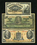 Canadian Currency: , DC-15b 25¢ 1900 Fine. BC-21c $1 1937 VG. Montreal, PQ- Royal Bankof Canada $10 Jan. 2, 1935 Ch. 630-18-04a Fine. . ... (Total: 3notes)