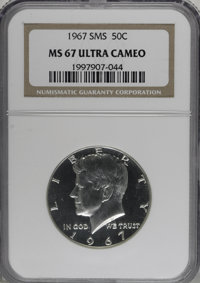 1967 50C SMS MS67 Deep Cameo NGC. NGC Census: (71/8). PCGS Population (0/0). Numismedia Wsl. Price for NGC/PCGS coin in...