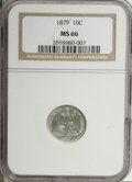 Seated Dimes, 1879 10C MS66 NGC....
