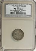 Early Dimes, 1798/97 10C 16 Stars on Reverse--Environmental Damage--NCS. AUDetails....