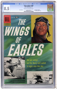 Four Color #790 the Wings of Eagles (Dell, 1957) CGC VF+ 8.5 Cream to off-white pages