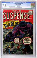 Silver Age (1956-1969):Horror, Tales of Suspense #9 White Mountain pedigree (Marvel, 1960) CGC VF- 7.5 White pages....