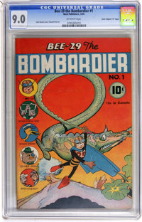"Bee-29 The Bombardier #1 Davis Crippen (""D"" Copy) pedigree (Neal Publications, 1945) CGC VF/NM 9.0 Off-white p..."