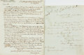 """Autographs:Military Figures, Daniel Grose and Brian Hodgson Autograph Letters Signed. The Grose letter is dated July 26, 1813 and """"humbly"""" beseeches some..."""