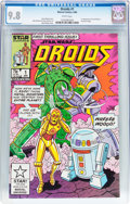 Modern Age (1980-Present):Science Fiction, Droids #1 (Marvel, 1986) CGC NM/MT 9.8 White pages....
