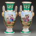 Ceramics & Porcelain, Continental, A PAIR OF PARIS PORCELAIN VASES, circa 1900. 14-1/2 inches high(36.8 cm). PROPERTY FROM THE ESTATE OF FRED D. WARD. ... (Total: 2Items)