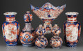 Asian:Japanese, A GROUP OF SIX JAPANESE IMARI PORCELAIN TABLE WARE, early 20thcentury. Marks to small double gourd: (three-character mark)...(Total: 6 Items)