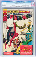 Silver Age (1956-1969):Superhero, The Amazing Spider-Man Annual #1 (Marvel, 1964) CGC FN+ 6.5 Off-white to white pages....
