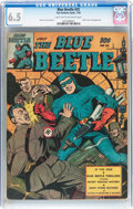 Golden Age (1938-1955):Superhero, Blue Beetle #32 (Fox Features Syndicate, 1944) CGC FN+ 6.5 Light tan to off-white pages....