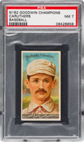 Baseball Cards:Singles (Pre-1930), 1888 N162 Goodwin Champions Bob Caruthers/Baseball PSA NM 7- Only One Higher. ...