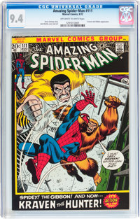 The Amazing Spider-Man #111 (Marvel, 1972) CGC NM 9.4 Off-white to white pages