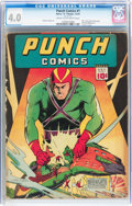 Golden Age (1938-1955):Superhero, Punch Comics #1 (Chesler, 1941) CGC VG 4.0 Cream to off-white pages....