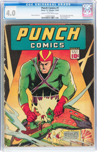 Punch Comics #1 (Chesler, 1941) CGC VG 4.0 Cream to off-white pages