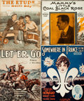 Books:Music & Sheet Music, [Sheet Music]. Large Lot of Approximately Twenty-Nine Pieces of Sheet Music and Music Magazines. Circa 1920s - 1940s. ...