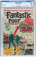 Silver Age (1956-1969):Superhero, Fantastic Four #13 (Marvel, 1963) CGC FN+ 6.5 Off-white to white pages....