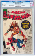 Silver Age (1956-1969):Superhero, The Amazing Spider-Man #34 (Marvel, 1966) CGC NM- 9.2 Off-white to white pages....