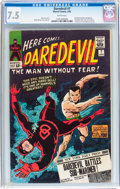 Silver Age (1956-1969):Superhero, Daredevil #7 (Marvel, 1965) CGC VF- 7.5 White pages....