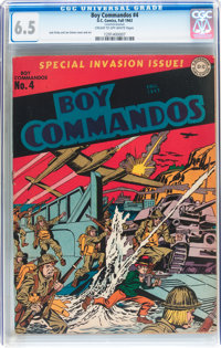 Boy Commandos #4 (DC, 1943) CGC FN+ 6.5 Cream to off-white pages