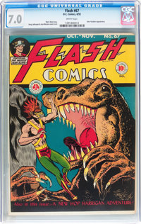 Flash Comics #67 (DC, 1945) CGC FN/VF 7.0 White pages