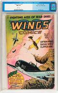 Golden Age (1938-1955):War, Wings Comics #67 Mile High pedigree (Fiction House, 1946) CGC NM9.4 White pages....
