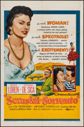 "Movie Posters:Romance, Scandal in Sorrento (DCA, 1957). One Sheet (27"" X 41""). Romance.. ..."