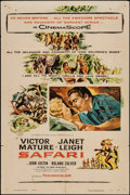 "Movie Posters:Adventure, Safari & Other Lot (Columbia, 1956). One Sheets (2) (27"" X41""). Adventure.. ... (Total: 2 Items)"