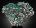 Minerals:Cabinet Specimens, FLUORITE & GALENA. Rogerley Mine, Rogerley Quarry,Frosterley, Weardale, North Pennines, Co. Durham, England, UK.. ...