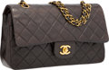 """Luxury Accessories:Bags, Chanel Brown Quilted Lambskin Leather Medium Double Flap Bag withGold Hardware. Good to Very Good Condition. 10""""Widt..."""