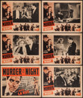 """Movie Posters:Crime, Murder in the Night (Film Alliance of the United States, 1940).Title Lobby Card & Lobby Cards (5) (11"""" X 14""""). Crime.. ...(Total: 6 Items)"""